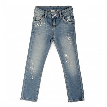 Jeansy dziewczęce glamour Twin Set 001030