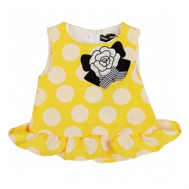Bluzka w kropki z różą Paesaggino 001058 A