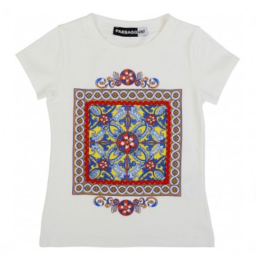 T-shirt z nadrukiem Paesaggino 001064 A