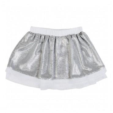 Spódnica dziewczęca w srebrne cekiny, Twin Set 001084