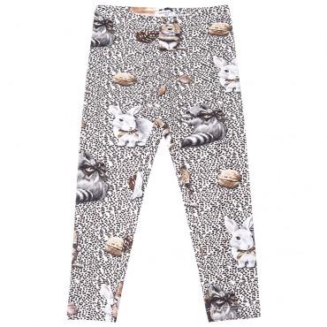 Bawełniane legginsy dziewczęce Monnalisa 001111
