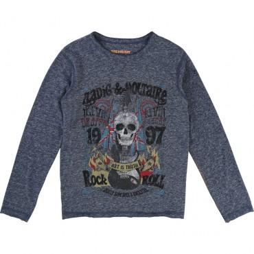 Rockowa koszulka dla chłopca Zadig&Voltaire 001216
