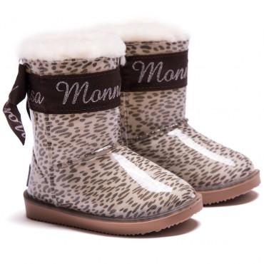 Śniegowce dziecięce w panterkę Monnalisa 001231
