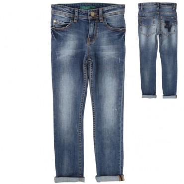 Jeansy chłopięce z monogramem Z&V 001285