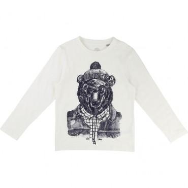T-shirt chłopięcy z nadrukiem Timberland 001291