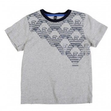 Dziecięca koszulka z logo Armani 001310
