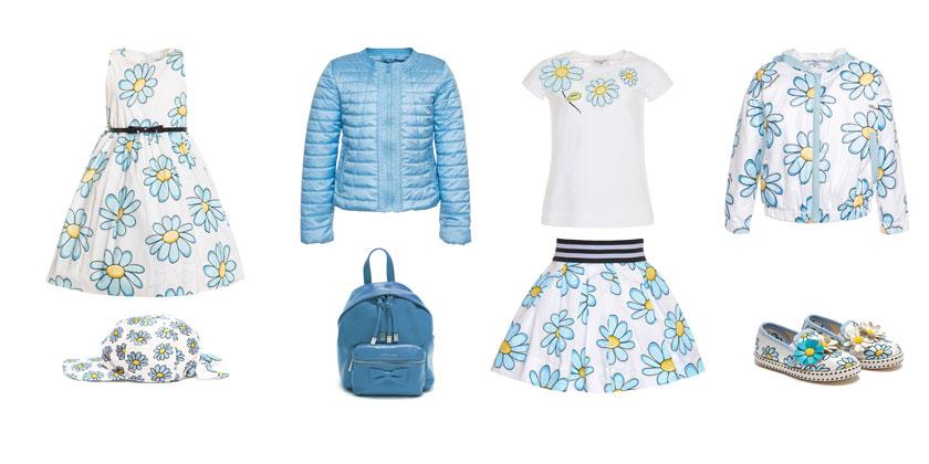 Ekskluzywne ubrania dla dzieci, Monnalisa, motyw margerytek.
